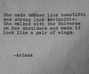 quotes, broken, and wings image