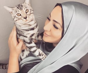 beauty, cat, and fashion image