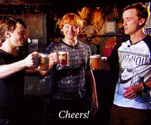 daniel radcliffe, rupert grint, and tom felton image