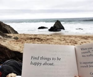 book, beach, and quotes image