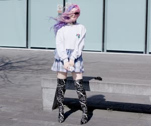 color hair, pink hair, and rose image