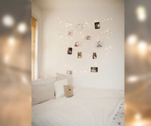 bedroom, fairy lights, and room image