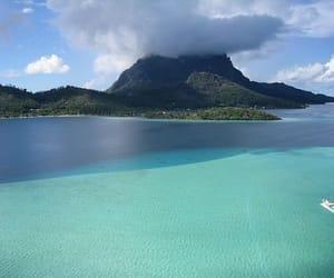 sea, Island, and blue image