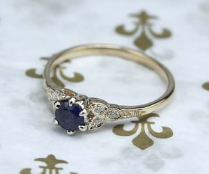 blue, diamond, and engagement image