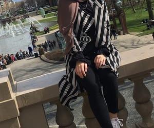 fashion, happy, and hijab image