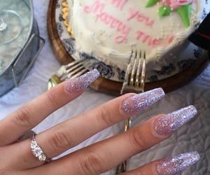 beautiful, cake, and engaged image