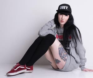 alt model, tattoo, and alternative style image