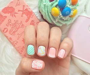 candy, green, and candy nail image
