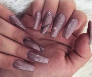 acrylics, nail polish, and nails goals image