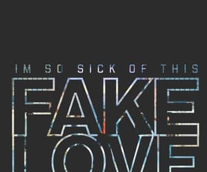 kpop, fake love, and wallpaper image