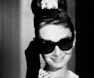 audrey hepburn, gif, and sunglasses image