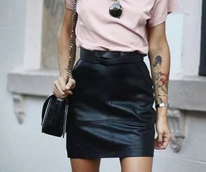 leather skirt image