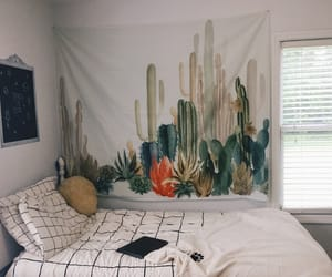 art, bedroom, and cactus image