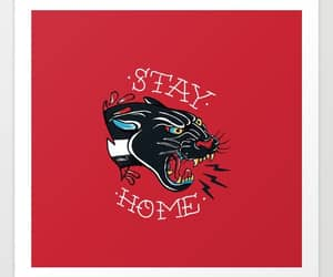 digital art, stay home, and panther image