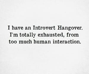 hangover and introvert image