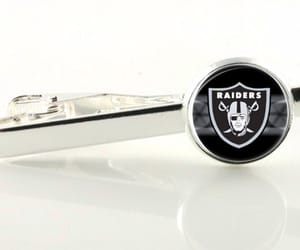 etsy, oakland raiders, and tie clip image