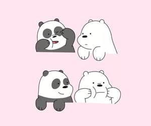wallpaper, pink, and panda image