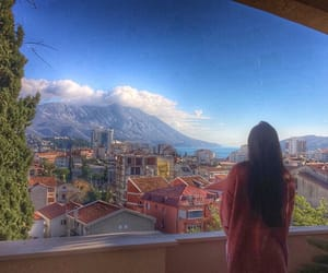 balcony, colors, and clouds image