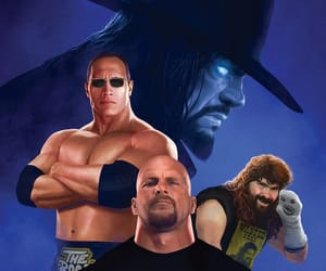 Dwayne Johnson, wwe, and the undertaker image