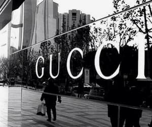 fashion, gucci, and black and white image