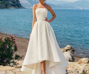 bridal, chic, and dress image
