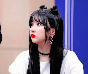 red lips, eunha, and gfriend image