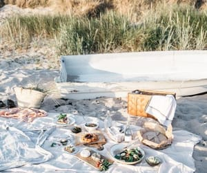beach, picnic, and theme image