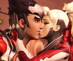 mercy, genji, and overwatch image