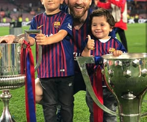 family, messi, and fcb image