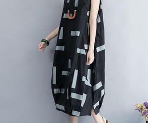 black dress, white dresses, and women clothing image