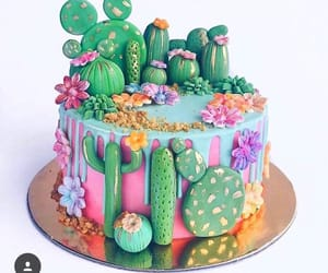 cactus, cake, and love image