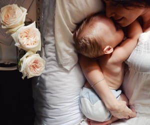 baby, love, and mom image