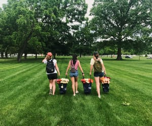 besties, girls, and teamwork image