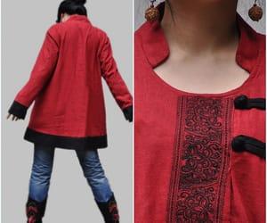 etsy, winter coat, and long jacket image