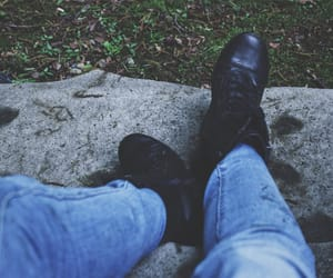blue, combat boots, and photography image