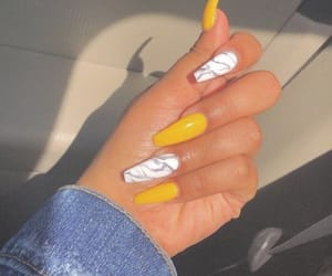 nails, yellow, and marble image