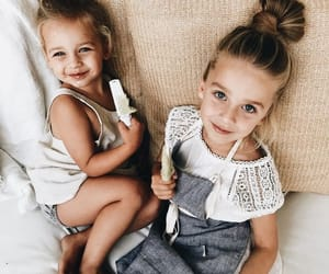 kids, little girls, and siblings image