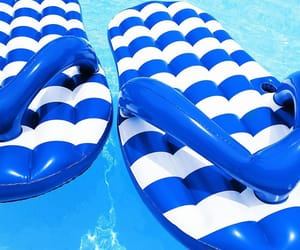 blue, pool, and stripes image