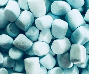 background, blue, and marshmallow image