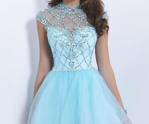 baby blue, blue, and diamonds image