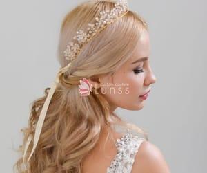 crystals, fairy tale, and bridal headband image