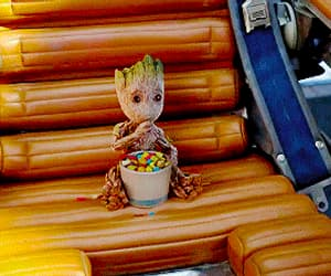 gif, guardians of the galaxy, and baby groot image