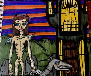 art, creepy, and skinny image