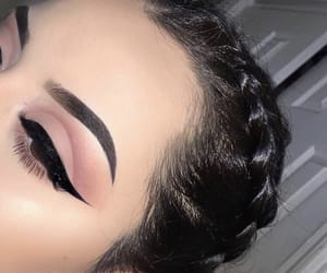 makeup, beauty, and braid image