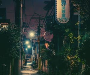 japan, street, and night image