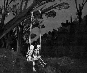 skeleton, art, and skull image