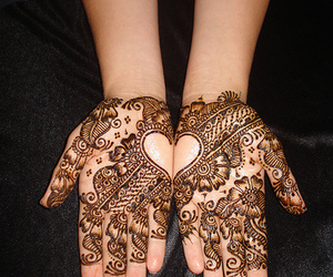 henna, design, and hands image