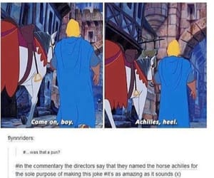 disney, funny, and achilles image