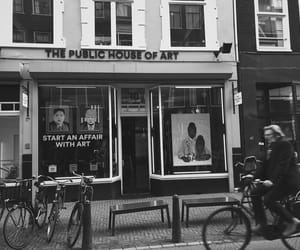 amsterdam, b&w, and bike image