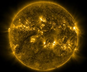 space and sun image